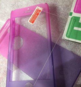 Чехол+стекло iPhone 6,6s