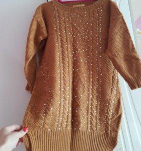 Платье-туника (шерстяное)