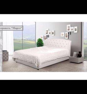 Кровать мягкая экокожа
