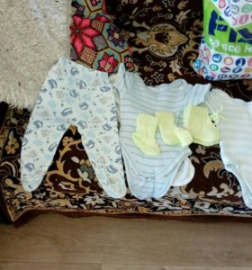 Вещи для ребенка от 0-7 месяцев,цена за два пакета