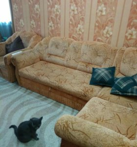 Угловой диван+кресло-кровать