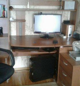 Компьютер,цв.принтер (мфу),мебель.