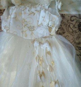 Платье кремовое ,красивое,в отличном состоянии.