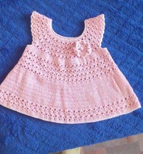 Платье вязаное,новое