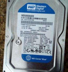 Жёсткий диск на 500 гб. Новый.