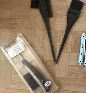 Кисти и бритва для стрижки и расческа «скелетик»