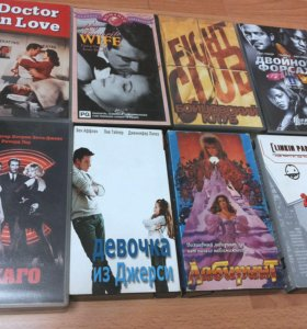 Видеокассеты (12 штук)