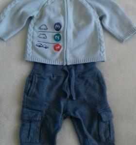 Кофточка+ штанишки на мальчика