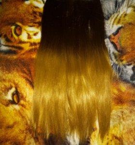 Волосы 65 см, брюки 200, платье 46¬48 за 300