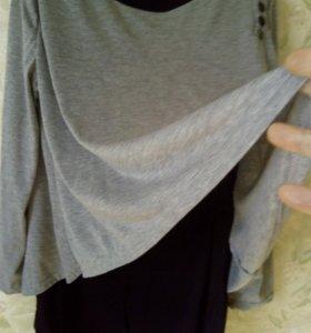 Блуза,новая,двойная.48-50.