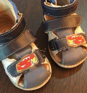 Детские сандалии р.19 для мальчика, нат. кожа