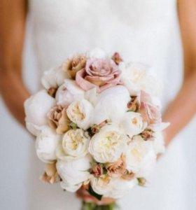 Букет невесты на заказ. Свадебная флористика