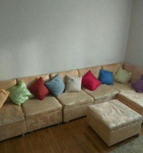 Уголок-диван из семи кресел