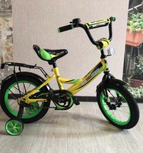 Велосипед новый крутой 14 дюймов