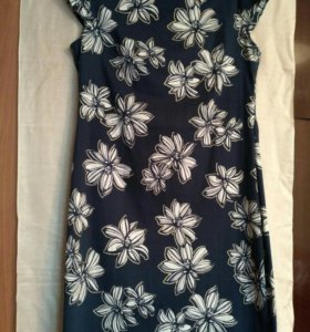 Платье женское стрейч х/б цвет темно синий