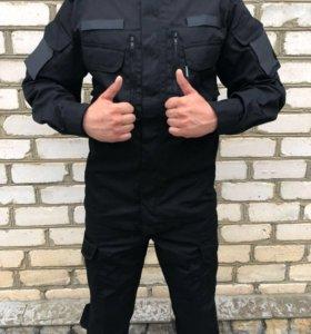 Чёрный Тактический Костюм