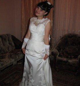 Выпускное платье.Шито на заказ.Очень красивое.