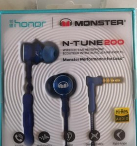 Наушники с микрофоном Honor Monster 2 Blue