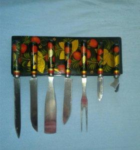 Набор ножей - хохлома