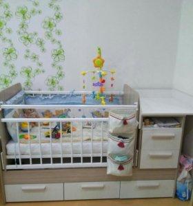 Срочно!!! кроватка-трансформер детская Полина 1