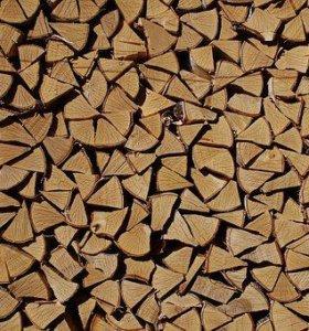Дрова березовые колотые сухие
