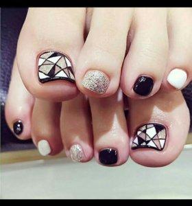 Накладные ногти на ножки(2 набора за 230 рублей )