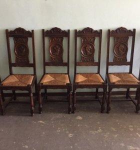 Комплект стульев 6 шт бретонский стиль Франция
