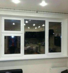 Окна ПВХ Rehau Рехау, остекление балконов и лоджий