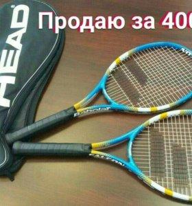 2 Теннисные ракетки Babolat  + чехол HEAD + 2 мяча