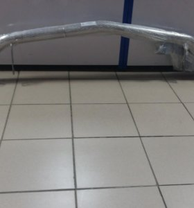 Защита переднего бампера ( труба хром)