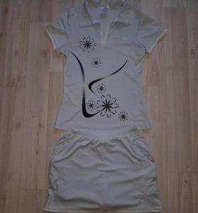 Костюм ( юбка-шорты и футболка) adidas