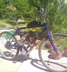Велосипед стелс + двигатель 50 куб
