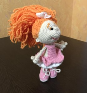 Кукла. Девочка Рыжулька. Ручная работа. Крючком