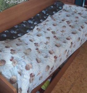 Каркас кровати вместе с выдвижным ящиком