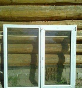 Окно пластиковое, новое двух камерное.