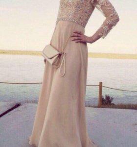 Платье в пол на выпускной вечер банкет