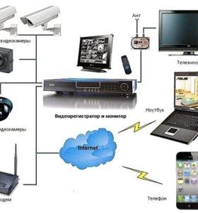 Видеонаблюдение, сигнализация, домофон