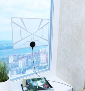 Антенна для цифрового ТВ, прозрачная, комнатная
