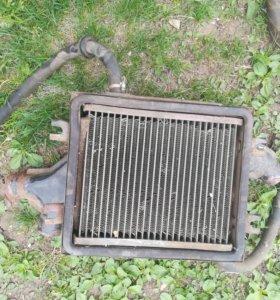 Радиатор печки Москвича