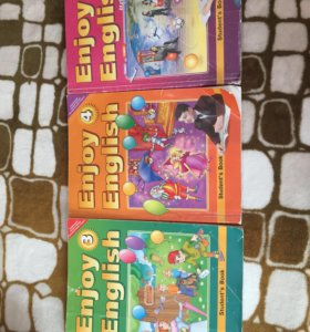Учебники по Английскому за 3,4,7 класс Биболетова