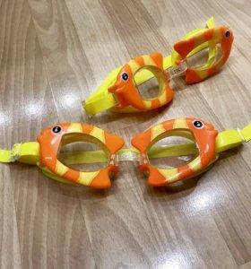 Яркие очки для плавания (новые)