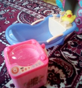 Ванна и стирльная машина
