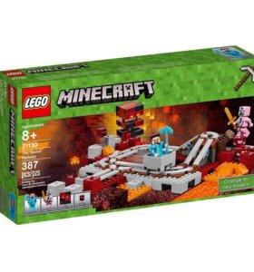 Лего Lego Minecraft The Nether Railway 21130