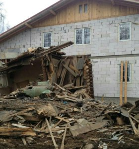 Демонтаж зданий, снос домов строений