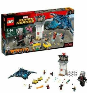 Лего битва в аэропорту,бэтмобиль и звёздные войны