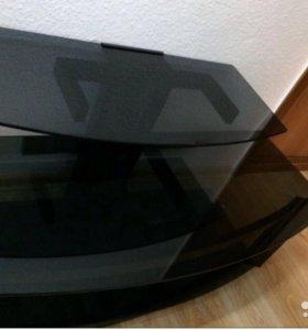 Стильная полка для ТВ аппаратуры( стекло тонирован