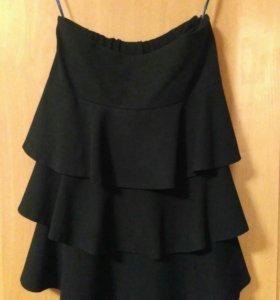 Школьная форма - Синяя жилетка и юбка