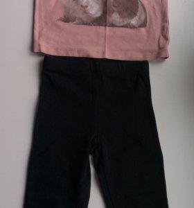 Комплект Gap лосины и футболка на 2 года б/у