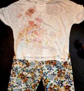 Брюки Zara и футболка