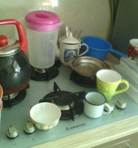 Чайник, сковорода, посуда